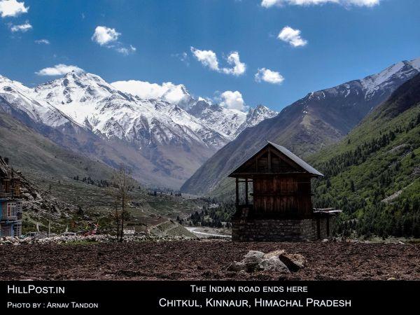 THE INDIAN ROAD ENDS HERE Chitkul, Kinnaur Himachal Pradesh.
