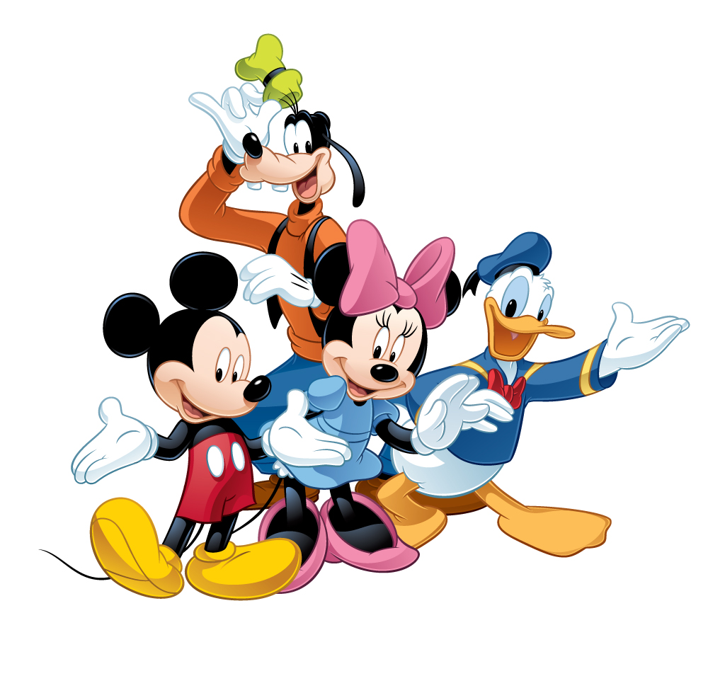 The Disney characters