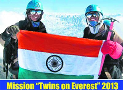 Uttarakhand sisters become first twins to scale Everest simultaneuosly