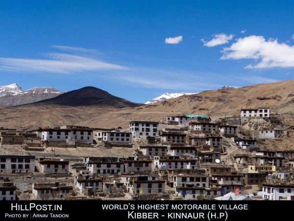 World's highest motorable village Kibber - Kinnaur (H.P.)