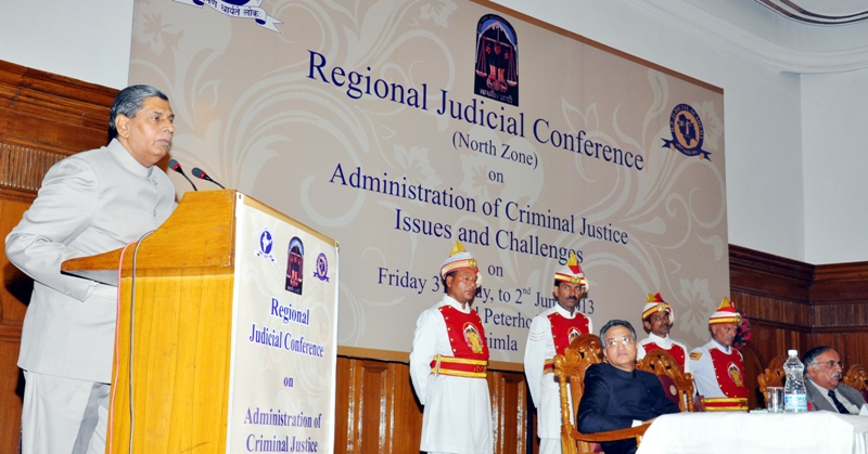 Hon'ble  Dr Justice B.S.Chauhan, Judge, Supreme Court of India inaugurating Regional Judicial Conference (North Zone) in Shimla today. Hon'ble Mr. Justice Ajay Manikrao Khanwilkar, Chief Justice of H.P. High Court also seen in the picture.