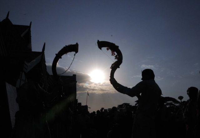 Folk artists from Himachal Pradesh preform at a Tribal Festival