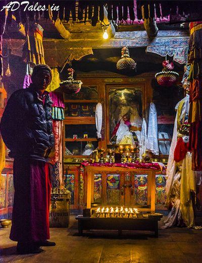 Langja Monastery nearby Kaza, Himachal Pradesh