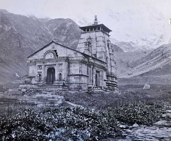 Southside of temple, Kedernath, Garwal, 1882.