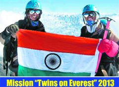 After scaling Everest, Haryana twins to try more peaks