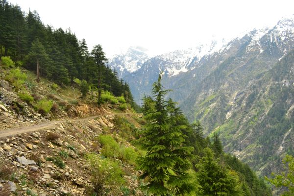 The road that connnects Himachal in Chamba with Kishtwar in J&K