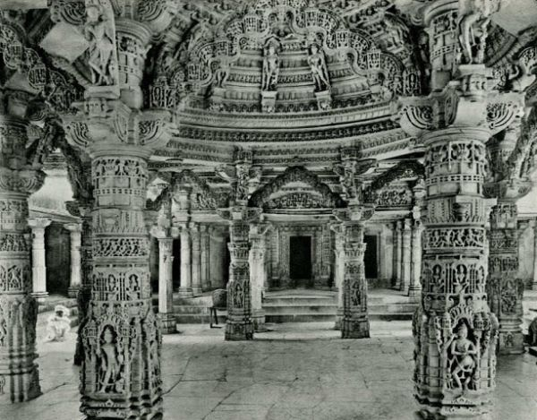 Decoration in the Adi Nath Temple (Dilwara) - Rajasthan, India 1928