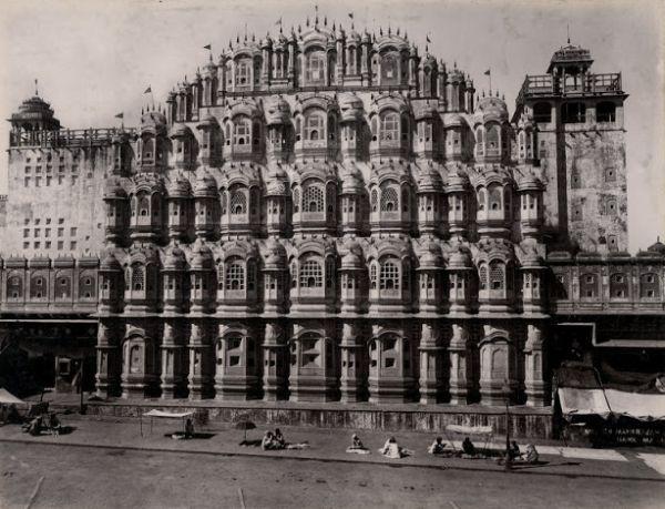 Hawa Mahal in Jaipur, Rajasthan - c1880's