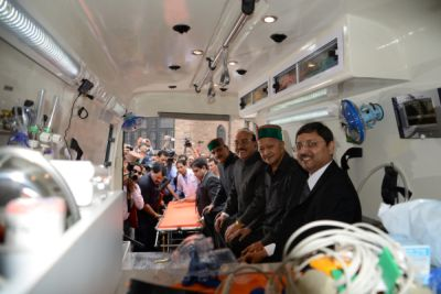 Himachal CM flags off 50 more ambulances