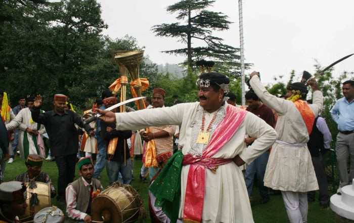 Kullu royal house scion Maheshwar Singh in traditional dance gear