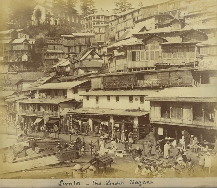 Lower Bazaar Simla in 1980's