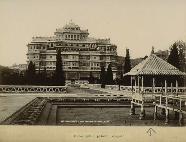 Maharaja's Palace in Jaipur, Rajasthan - India 1900's
