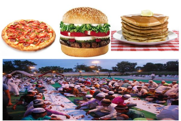 Pizza, burger, pancakes shape up Roza Aftaar menu