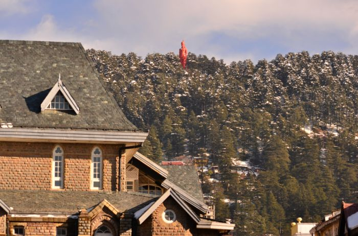 Under the watchful eyes of Lord Hanumana ---- Shimla