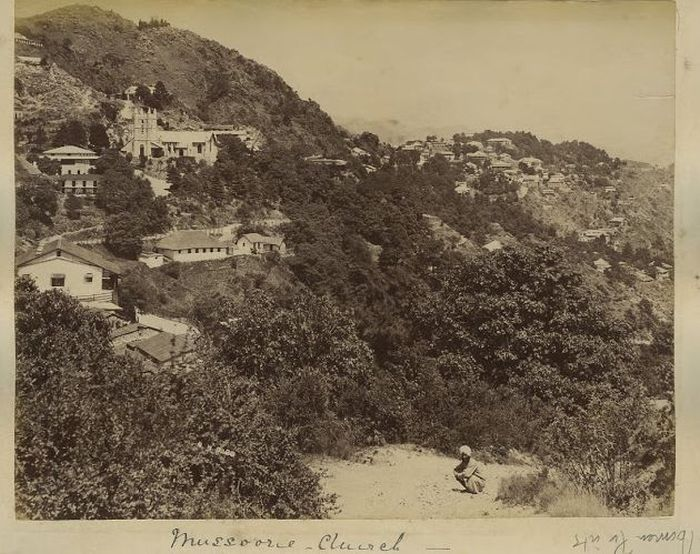 View of Mussoorie Church in 1890's