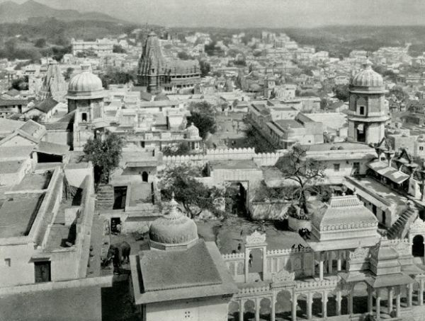 View of the Town of Udaipur - Rajasthan, India 1928