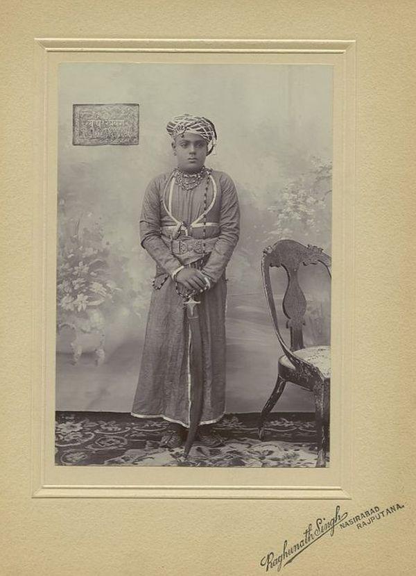 Vintage Photograph of a Young Prince of Rajputana Raghunath Singh - 1900's