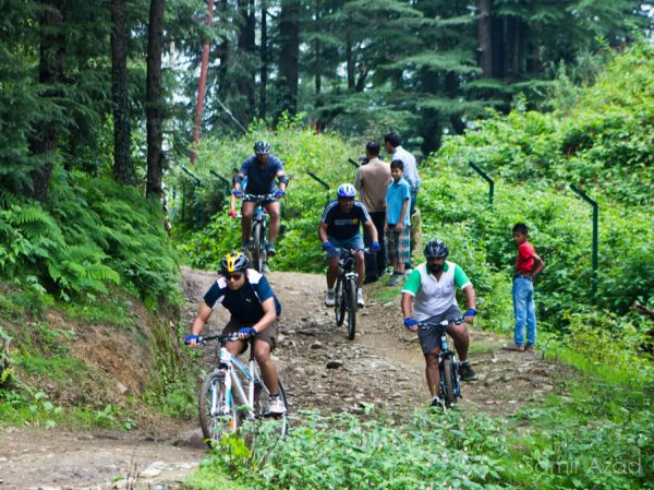 Mountain bikers hit the road in the Himachal hills