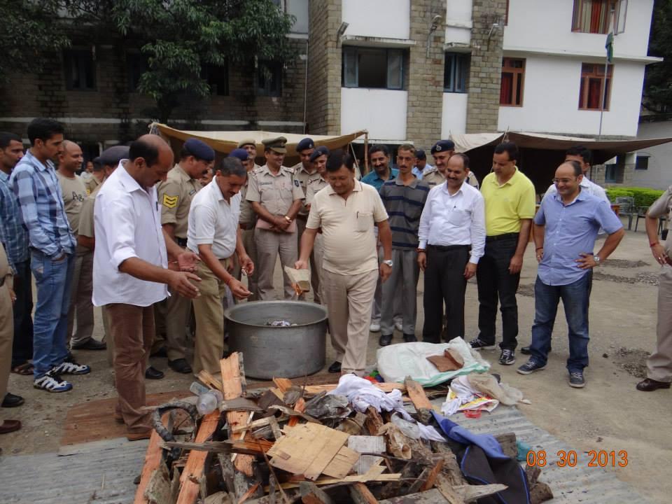Destruction of Charas in Mandi - Himachal Pradesh4