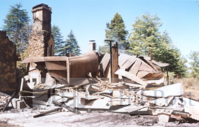 File Photo: Remnants of Sherwood Cottage that was burnt down 2001