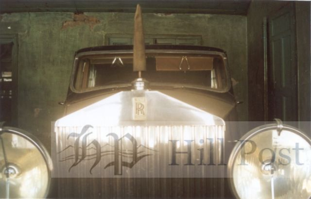A vintage Rolls Royce Car that was lying locked up in the garages at Mashobra in 2001