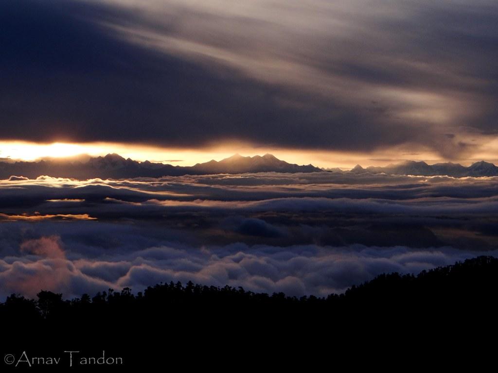 river of clouds from village nauradhar (district Sirmaur)