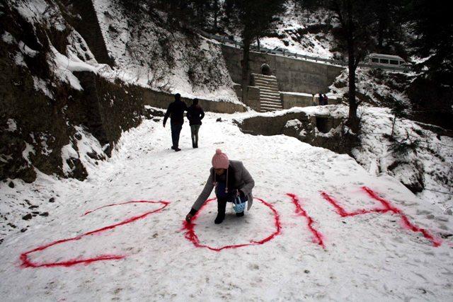 Snowfall at Kufri near Shimla: Photo by Amit