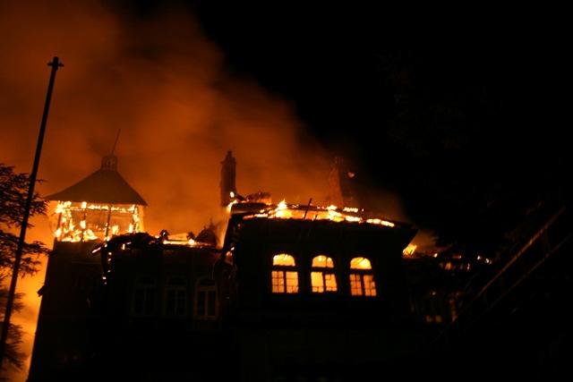Landmark Gorton Castle Shimla in flames