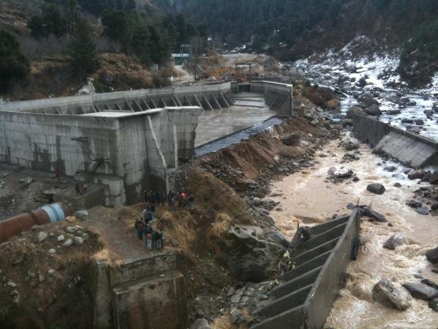Villagers, labourers had a miraculous escape as a resevoir burst in Manali region