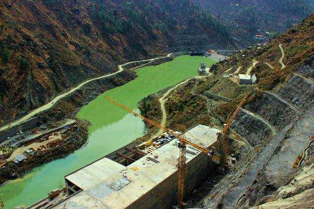 9.Just upstream of  Parbati-III Project is the power house of the 800 MW Parbati-II. Bumper to bumper projects, where the power house of the one is followed by the dam and head race tunnel of the other project are now common in all the river valleys of Himachal Pradesh.