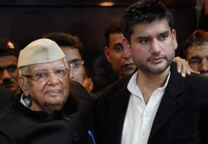 ND Tiwari with his biological son Rohit Shekhar