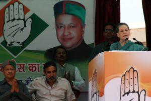 Congress President Sonia Gandhi in Himachal Pradesh