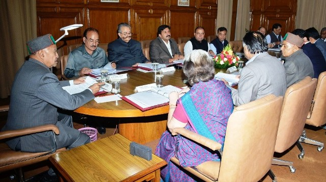 Virbhadra Singh presides over cabinet