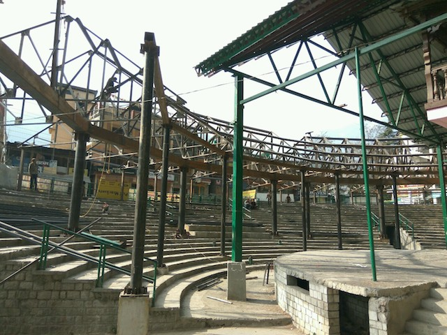 Heavy steel use damages  Manali Open Air Theater