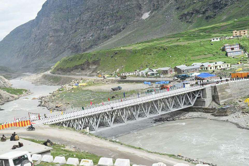 Koksar Bridge On Manali – Ladhak Road Thrown Open