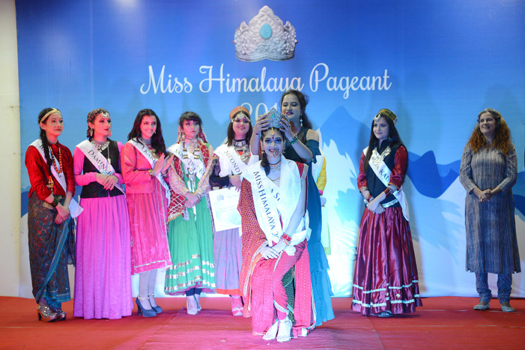Shrutika Sharma from Nainital, Uttrakhand, crowned  the Miss Himalaya Pageant 2019